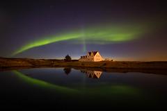 Norurljs (.Gu) Tags: sea house reflection nature night iceland shore aurora sland auroraborealis icelandic ntt hs seawater northenlights speglun norurljs nturmynd gu ogud nightimagen olafurragnarsson lafurragnarsson
