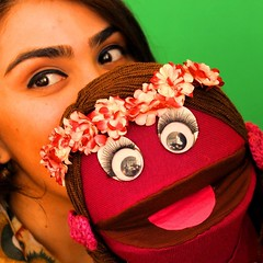 With my favourite puppet Chokhbilmish :) #puppetry #puppets (khanimmukhtarova) Tags: kids puppets journalist puppetshow handpuppet puppetry