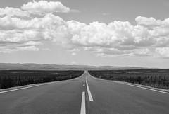 Somewhere in Idaho (SlinkyBlue89) Tags: road white landscape 50mm nikon idaho bland bnw 18g d80