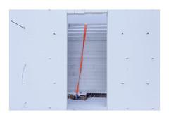 Orange line in bad weather (back) (hvb72) Tags: winter orange white snow cold canon iceland construction akureyri