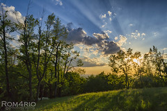 The last rays - (on explore 30-04-2016) (Rom4rio Photography) Tags: sunset sky sun color tree verde nature grass clouds nikon nuvole natura erba campo nikkor sole albero nori iarba copac soare allaperto d3100 nikond3100