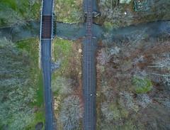 Chasing Trains (Matt Champlin) Tags: railroad people home train evening random railway trains aerial transportation designs roads aerialphotography drones drone dronephotography djiphantom3