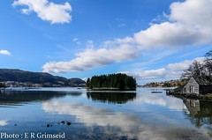 Fanafjorden (2000stargazer) Tags: blue sky seascape water norway canon reflections landscape heaven horizon fjord bergen fana fanafjorden