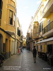 Carrer del Portal d'Artrutx (josehico) Tags: street espaa calle es ciudadela menorca callejon illesbalears ciutadellademenorca nikoncoolpixs210 josehico