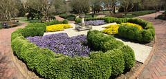 Stunning W&M Sundial (William & Mary Photos) Tags: flowers spring scenery wm sundial williamandmary williammary collegeofwilliamandmary collegeofwilliammary