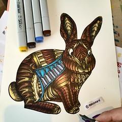 Bunny (marusaart) Tags: rabbit bunny art illustration sketch artist drawing doodle ornament zen coloring draw hase kaninchen copic zeichnung doodleart zentangle marusaart