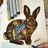 Bunny (marusaart) Tags: rabbit bunny art illustration sketch artist drawing doodle ornament zen coloring draw hase kaninchen copic zeichnung doodleart zentangle marusaart