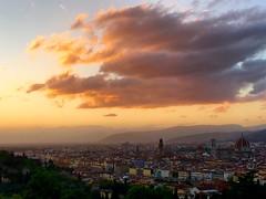 Florence (Ilaria Trombetta) Tags: sunset landscape firenze