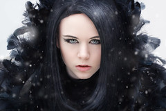 Jin Seo-Yeon (Explored) (PHTMatrix) Tags: portrait people snow dark eyes cosplay lbm