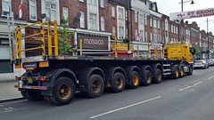 Whitton High Street 24-4-2016. (DepotCat02) Tags: crane southwesttrains whitton networkrail heavylift articulatedlorry ainscough whittonhighstreet ainscoughcranehireltd whittonstation pn05dva