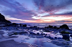 When the evening sun goes down (pauldunn52) Tags: blue sunset heritage pool rock wales bay coast purple glamorgan dunraven