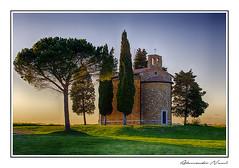 Vitaleta - HDR (Alessandro Nenci) Tags: sunset church tramonto chapel chiesa tuscany hd toscana hdr cappella vitaleta