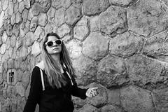 Sunny moment between showers (tomavim) Tags: girl sunglasses pretty stones hexagonal longhair sunny shades nails