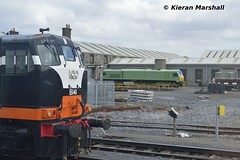 B141 and 216 at Inchicore, 25/4/16 (hurricanemk1c) Tags: irish train gm rail railway trains railways 141 irishrail generalmotors inchicore 2016 iarnród éireann rpsi iarnródéireann railwaypreservationsocietyofireland b141