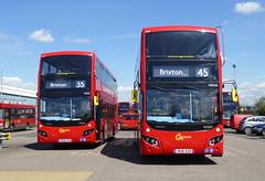 GAL MHV2 BU16OYM - MHV20 BU16OZB - BV BELVEDERE GARAGE - THUR 28TH APR 2016 (Bexleybus) Tags: new bus london buses ahead volvo garage go egyptian belvedere bv etb mcv goahead mhv2 evoseti mhv20 bu16ozb bu16oym
