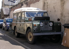 1963    ex-military  Land  Rover camper  conversion. (Lawrence Peregrine-Trousers) Tags: street roof 2 car station wagon rover spots ii land series 2a 1963 dormobile iia ffffffffff elevating autoshite
