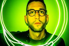Self portrait (G.Comte) Tags: light portrait selfportrait france green trails psychedelic limousin limoges selfie