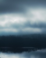 River morning mist (Mikeinwayne...On and off...) Tags: morning blue mist water clouds reflections river landscape gray