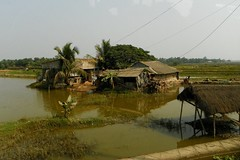 rural landscape (juggadery) Tags: india building rural countryside thatchedroof bengal westbengal 2015 sundarbans