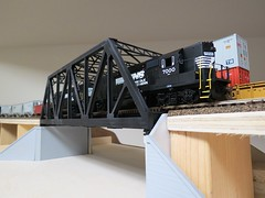 H.O. Scale Basement Layout (codeeightythree) Tags: modeltrain ns norfolksouthern hoscale gp40x trainlayout highhood athearn norfolksouthernrailroad modeltrainlayout athearngp40x