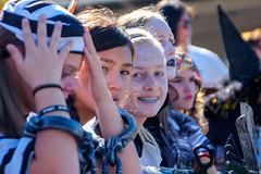 A Smile in the Line (Kevin MG) Tags: usa losangeles northridge school halloween girls teen preteen young youth cute pretty little outdoors braces smile smiling california child kid kids children costumes costume