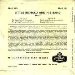 3 - Little Richard - Rip It Up - EP -UK - 1957- (Affendaddy) Tags: uk london 1956 littlerichard tuttifrutti decca extendedplay ripitup longtallsally readyteddy collectionklaushiltscher vinyleps usrocknroll vinyl4tracksingle reo1074