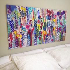 (Nadia Starikoff) Tags: flores color paint decoração cor parede pintura técnicas pinturaacrilica nadiastarikoff
