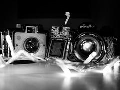 The beginning, the past and the future (Archer_fotero) Tags: camera digital lights nikon minolta kodak photographic beginning oldie sensor tecnology