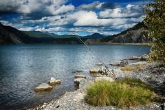 Fishing in Crowsnest Lake (Susan Wilde) Tags: lake canada mountains water fishing alberta crowsnest crowsnestpass september92015wilderide2015alberta