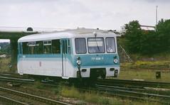 DB railcar 771 038-7 Halberstadt (jc_snapper) Tags: railcar dmu halberstadt bautzen ferkeltaxe baureihe171 baureihe771