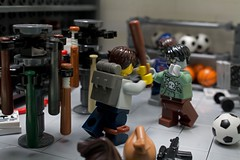 Outbreak Chapter 19: Up to Bat (General JJ) Tags: lego baseball bat apocalypse zombies outbreak minifigure brickarms eclipsegrafx generaljj