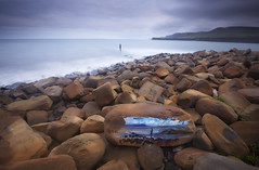 3 Arts in One (SedatPhotography) Tags: sculpture 3 clouds painting one bay arts landmark dorset kimmeridge the