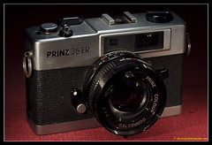 PRINZ 35 ER. 1 (adriangeephotography) Tags: camera classic film leather vintage lens photography antique rangefinder collection chrome adrian accessories meter gee collectable micronikkor55mmf28 fujis5pro adriangeephotography