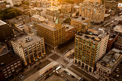 Sunlit Intersection (Memp0) Tags: sunset urban toronto canada rooftop landscape downtown cityscape kingst thesix rooftopping