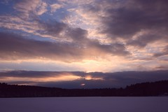 2016_0206Sunset0006 (maineman152 (Lou)) Tags: sunset sky cloud sun lake nature clouds skyscape landscape frozen pond maine february sunrays frozenover wintersky frozenlake skyview naturephotography winterscene skyscene landscapephotography naturephoto skycolor skycolors skydrama westpond landscapephoto