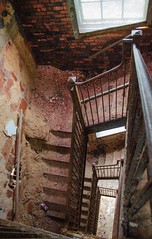 (Fatigued_23) Tags: old urban abandoned stairs rust decay exploring staircase forgotten asylum dilapidation abandonment dilapidated urbex mentalinstitute