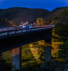 bridge to the tom lantos tunnels (pbo31) Tags: california bridge winter panorama motion black color night dark 1 nikon january large tunnel panoramic highway1 bayarea pacifica stitched sanmateocounty devilsslide 2016 lightstream boury pbo31 d810 pedrovalley tomlantostunnels