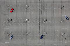 Red Car - 85 (Aerial Photography) Tags: auto car by la automobile mood traffic aerial parkplatz verkehr deu kombi stimmung redcar luftbild parkhaus parken landshut luftaufnahme pkw bayernbavaria deutschlandgermany parkgarage ndb rotesauto fotoklausleidorfwwwleidorfde 08052011 1ds63932