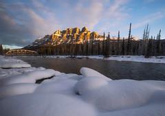 castle mountain (Donald L.) Tags: park morning winter light snow canada golden alberta banff bowriver castlemountain