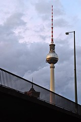 Berlin TV Tower (AntyDiluvian) Tags: trip sunset berlin river germany deutschland evening boat tour dusk alexanderplatz spree tvtower excursion televisiontower 2015 fernseeturm