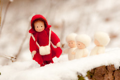 The snow children (Kamoli1) Tags: felted naturetable feltfigure seasonaltable waldorfinspired minaturedoll sibyllevonolfers