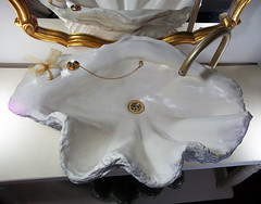 Gold Sink 7 (LittleGems AR) Tags: ocean sea sculpture sun beach home statue stone giant bathroom shower gold aquarium soap sand bath crystals hand contemporary unique decorative shell craft style toilet towel clam basin special clean shampoo taps wash ornament gift present pearl reef spa figures gems opulent gem fossils oneoff clamshell mollusks cloakroom bespoke personalised tridacna sculpt crafted gigas facetowel