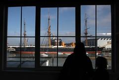 Train station window view (cmrowell) Tags: uk england ship trainstation portsmouth hmswarrior springbreaktrip2015