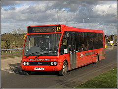 Country Lion CN04 HOL (Jason 87030) Tags: red northampton accident northamptonshire scum february publictransport northants 87 swanvalley pileup 2016 towcester route87 optaresolo countrylion cn04hol rothersthopre uptonvalleywayeast