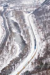 Lovers Leap to Amtrak (benpsut) Tags: railroad winter snow unitedstates maryland trains passenger cumberland csx loversleap passengertrain csxt capitollimited autoracks willscreek p030 willsmountain amtrak30 amtrakcapitollimited csxkeystonesub