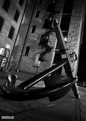 The Ancher (Mark Holt Photography - 4 Million Views (Thanks)) Tags: blackandwhite bw liverpool mono merseyside nighttimephotography longexposurephotography themaritimemuseum thealbertdock