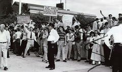 Baltimore white students and parents protest integration: 1954 (washington_area_spark) Tags: school white black high student md african protest attack maryland 1954 baltimore assault demonstration southern american pupil integration segregation desegregation