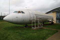 British Aircraft corporation BAC Super 1-11 Srs 500 G-AVMU (Ex-BEA & European) in use as a cabin trainer (kitmasterbloke) Tags: bea aircraft jet airliner kettering airframe bac111 tresham gavmu