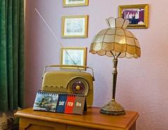 Day 36/6 Feb 2016 - Just Now. #fmsphotoaday, photoaday challenge 2016 (pondhopper1) Tags: lamp radio vintageradio justnow fmsphotoaday wwwfatmumslimcomau pullmanlamp