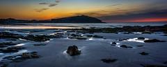 Playa de Prado (Nigrn) (Davpan) Tags: sunset sea costa beach landscape atardecer 50mm noche mar spain nikon playa paisaje galicia rocas panormica d810 davpan